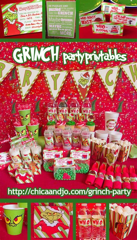 grinch pinterest kids party ideas awesome printables for a grinch happening grinch