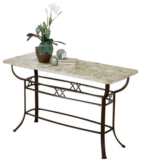 Brookside Wrought Iron Sofa Table W Fossil St Rod Iron Sofa Table