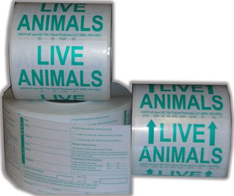 printable live animal stickers live animal shipping labels