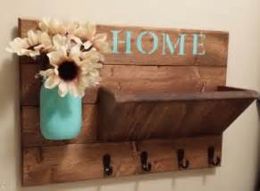 Wooden Home Decor Items Key Holder Rustic Home Decor Key Rack Home Sign Mail