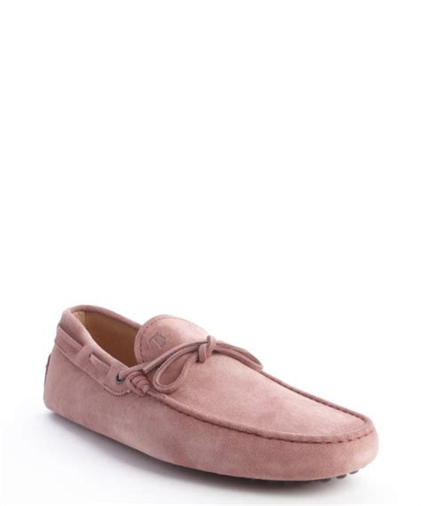 pink mens loafers tod s pink suede lace front loafers in pink for