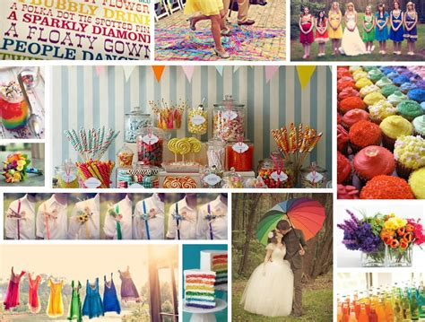 de lovely affair rainbow wedding decor top trend for 2013 by deco gal