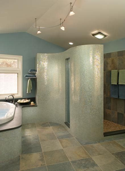 Bathroom Wall Material by What Material Is The Curved Shower Wall
