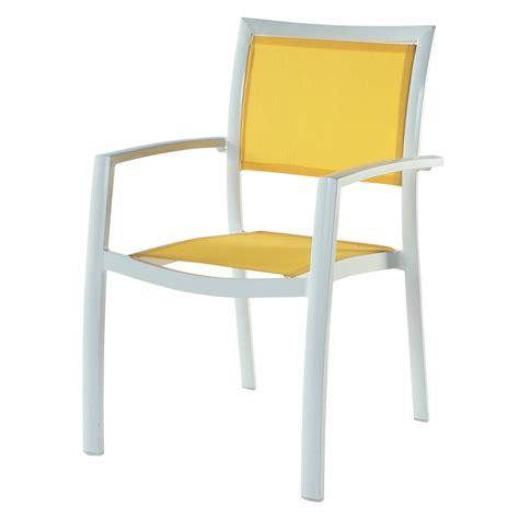 fauteuil de jardin aluminium fauteuil de jardin en aluminium blanc hawai maisons du monde