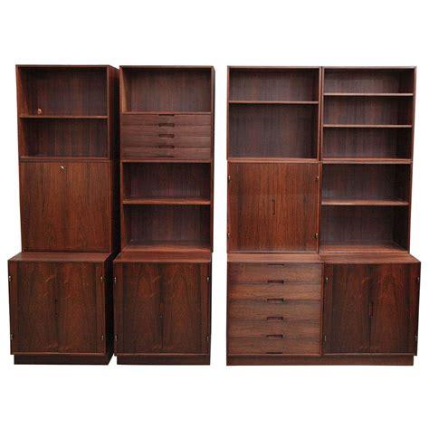 modern modular bookcase danish modern rosewood modular bookcase wall system by