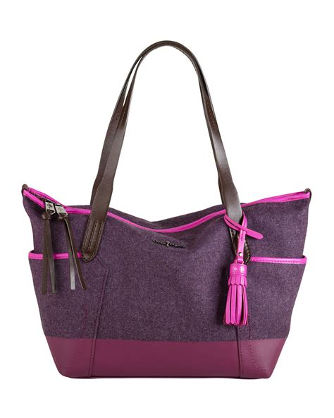 Cole Haan Kaylie Bag by Cole Haan Small Felt Ziptop Shopper Bag Purple