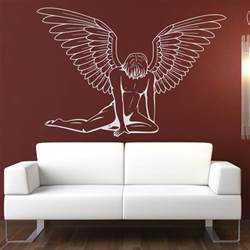 Transfer Stickers For Walls Male Angel Wall Art Sticker Wall Art Decal Transfers Ebay