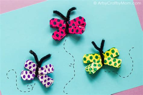 butterfly craft for easy crepe paper butterfly craft for artsy craftsy