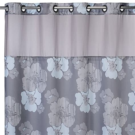 74 shower curtain liner buy hookless 174 71 inch x 74 inch hibiscus floral shower
