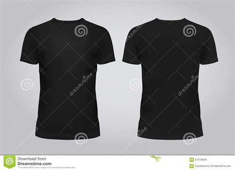 design a shirt front and back vector illustration of design template black men t shirt
