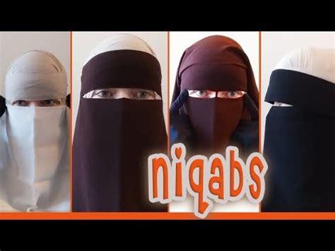 Niqab Cadar Easy Eat tutorial shawl with 1 layer niqab doovi