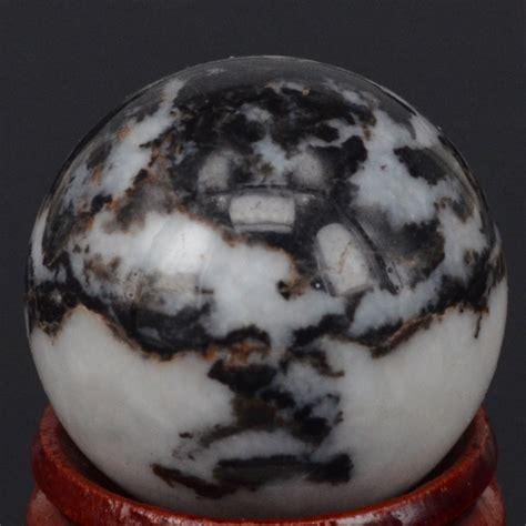 mm natural gemstone black white zebra jasper