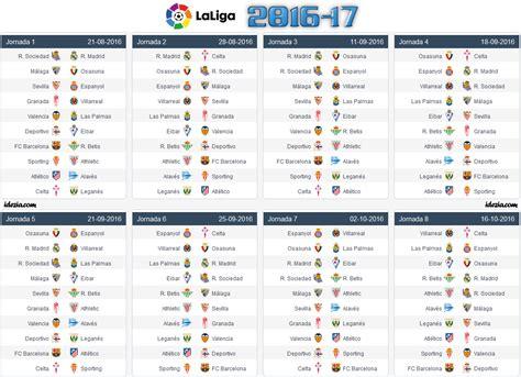 la liga table 2017 la liga 2017 18 fixtures schedule pdf with