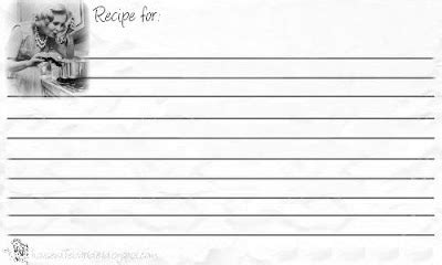 recipe card template for wordpad an american printable retro recipe cards
