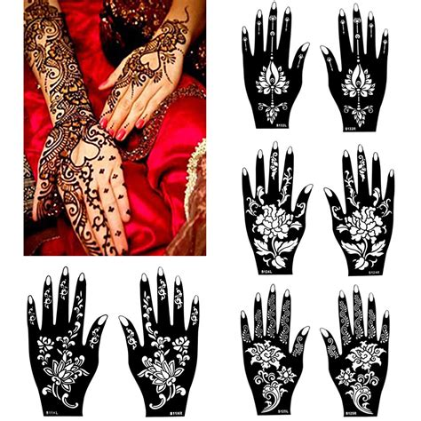 henna tattoo paint henna mehndi stencil diy paste drawing