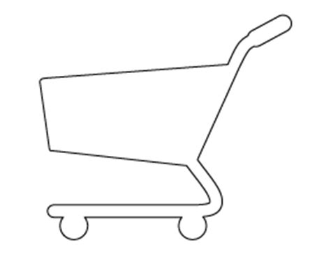 shopping cart template for free shape and object patterns for crafts stencils and
