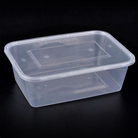 Plastik Vintage White Pedikategorikanarl Plastik Packing Food Grade bpa free 650ml disposable rectangular plastic food container with lid manufacturers china