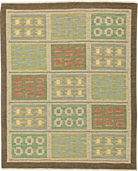 teppich schwedisch a vintage schwedische flachgewebe teppich zeichen svensk