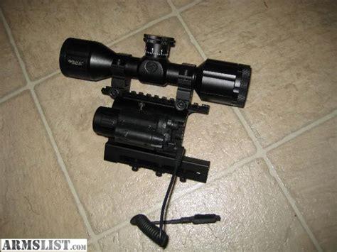 ak 47 laser light combo armslist for sale ak mount scope light laser combo