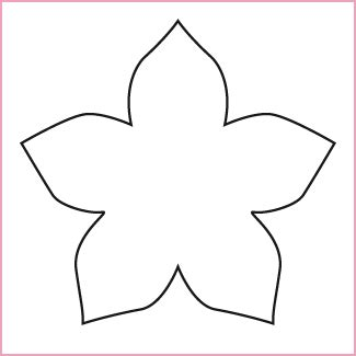 pattern of a flower to cut out flower template diy flowers pinterest