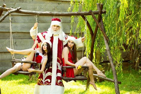 swing girls download santa with girls on swing stock photo 169 tverdohlib com