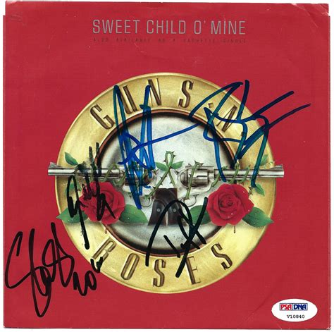 guns n roses sweet child o mine mp3 download lot detail guns n roses signed quot sweet child o mine quot 7