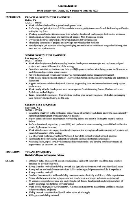 semiconductor test engineer resume exle test engineer resume annecarolynbird
