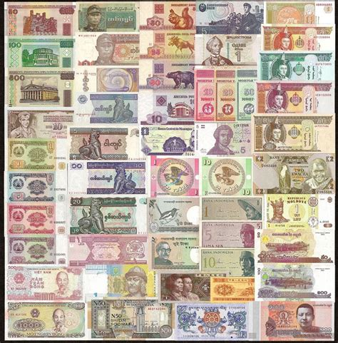 How To Make Currency Paper - 50 pcs different mix world banknotes 20 countries genuine