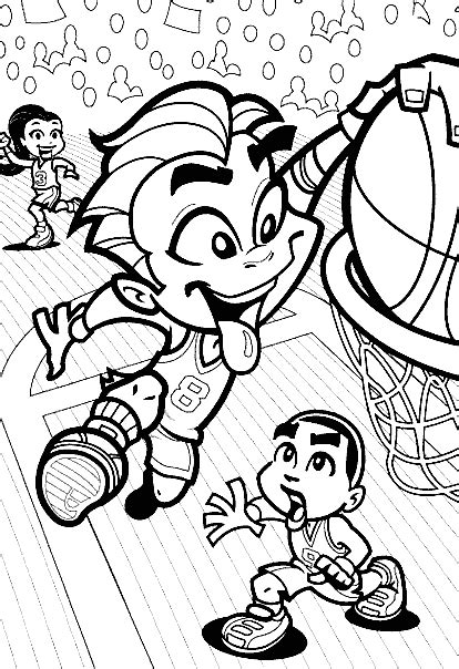 basketball cartoon coloring pages disney cartoon basketball coloring pages cartoon