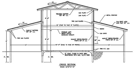 free pole barn plans blueprints 6 free barn plans