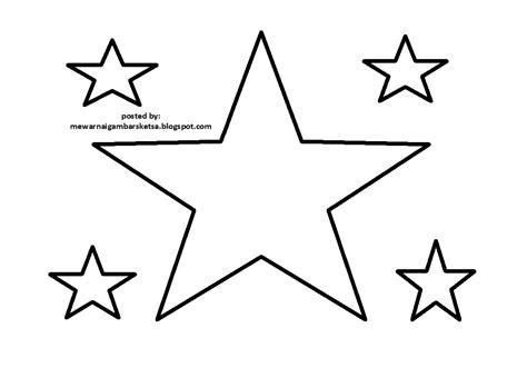 mewarnai gambar bintang kreasi warna