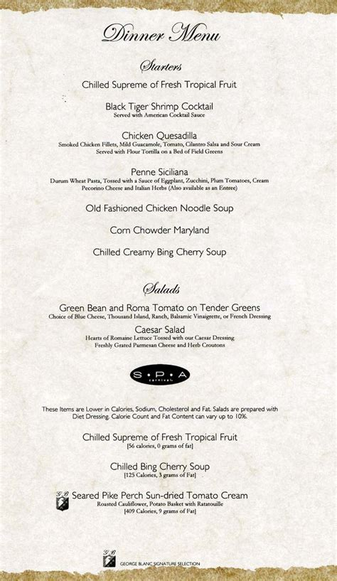 carnival valor room service menu cruiseclues carnival cruise lines carnival valor dinner menus cruise food dining