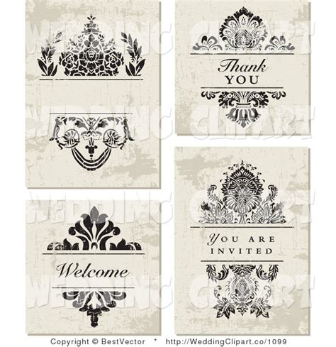 wedding invitation graphic design vector vector marriage clipart of a wedding set distressed floral and vector wedding invitation with