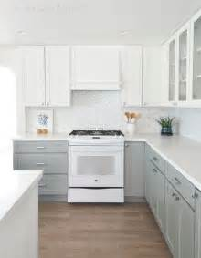 White And Gray Kitchen Cabinets by Grey Kitchen Cabinets With White Appliances Kitchen Idea