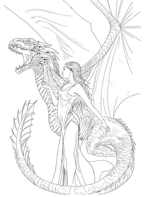 dragon coloring pages games game of thrones inks work in progress for a dutch