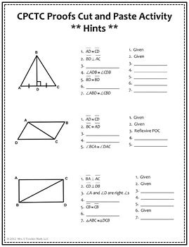 Triangle Congruence Proofs Worksheet by All Worksheets 187 Triangle Congruence Proofs Worksheet