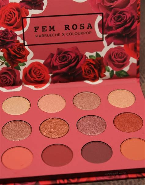 Colourpop Fem Rosa She Shadow Palette Colourpop X Karrueche Fem Rosa She Eyeshadow Palette Pics