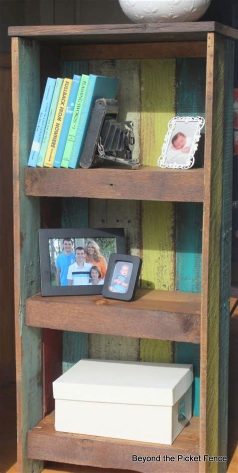 diy pallet wood bookshelf pallets designs