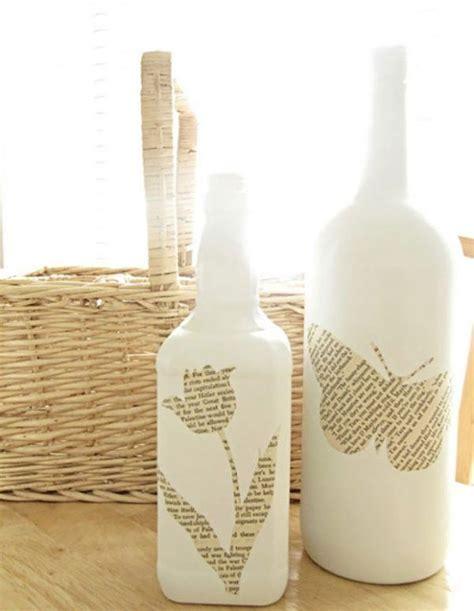 decorar botellas de cristal con estaño c 243 mo decorar unas botellas de cristal bloghogar