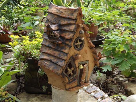 Garten Deko Elfen by Gartendekoration Elfen Haus Keramik Unikat Stele Kunst
