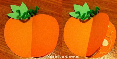pumpkin crafts pumpkin fall harvest preschool preschool