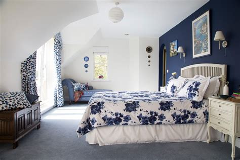 attractive Best Colour For Study Room #4: kent-navy-blue-ottoman-with-contemporary-pendant-lights-bedroom-traditional-and-country-style-curtains.jpg