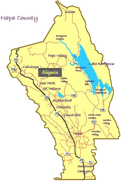 california map napa sonoma napa county map my