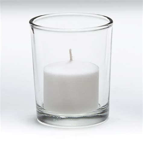 Glass Votives 10 Hour Votive Candle In Glass