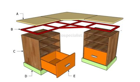 Corner Desk Plan Building A Corner Desk Crafts Desk Plans O Connell And Build A Desk