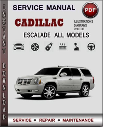 auto repair manual online 2009 cadillac escalade instrument cluster cadillac escalade service repair manual download info service manuals