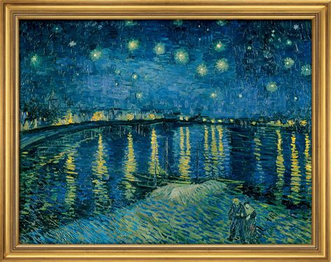 Home Interior Framed Art by Van Gogh Starry Night Over The Rhone For Sale