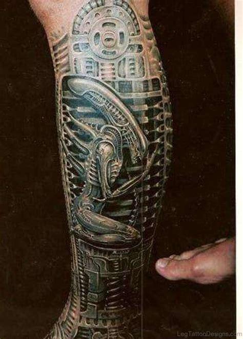 bio mechanical tattoos 50 wonderful biomechanical tattoos on leg