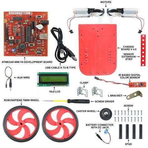 Membuat Robot Wall Follower | buy online robomart wall follower robot