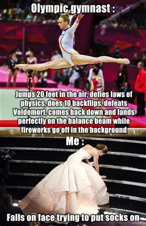 Gymnastics Meme - olympic gymnast story and me funny pictures quotes